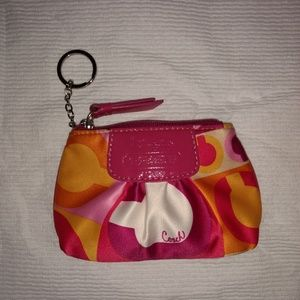 Coach Op Art Resort Small Mini Compact Coin Bag